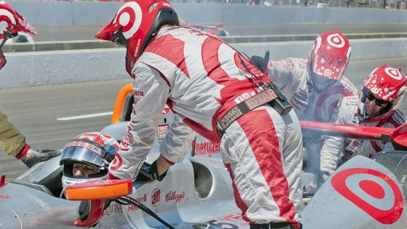 Tony Kanaan's crew made its final pit stop much earlier than the rest of the leaders at Pocono, a strategy that backfired.