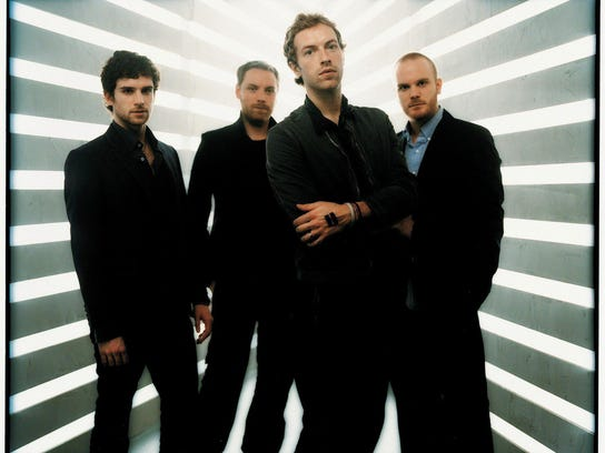 Chris Martin (second from right) of Coldplay has stated
