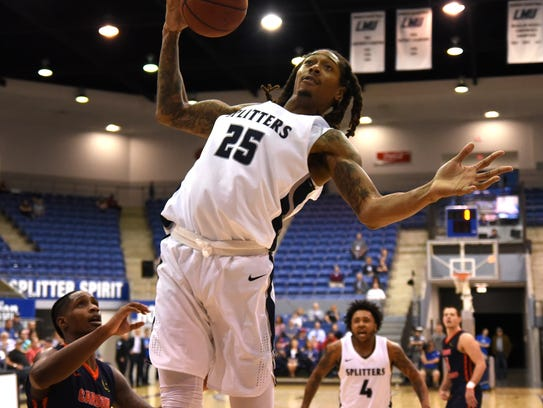 Lincoln Memorial University's Emanuel Terry snags a