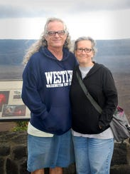 Bart Wright and Debbie Nissim in Hilo, Hawaii, 2015.