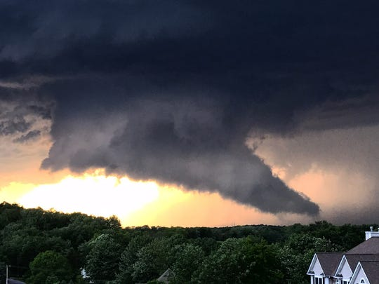 A scene from Wednesday's storm taken from Hillside Lake Road in Wappingers Falls at around 7:30 p.m.