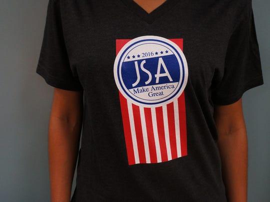 "James Scott Apparel's ""Make America"" T-shirt. $30,"