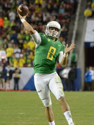 Heisman winner Marcus Mariota had a huge season for Oregon: 3,783 passing yards, 38 touchdowns and only two interceptions.