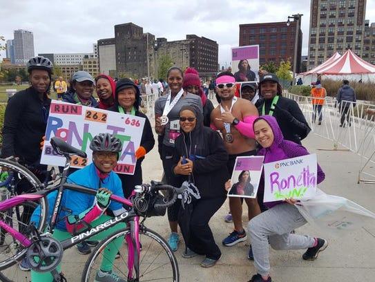 Some members of Black Girls RUN! running group came