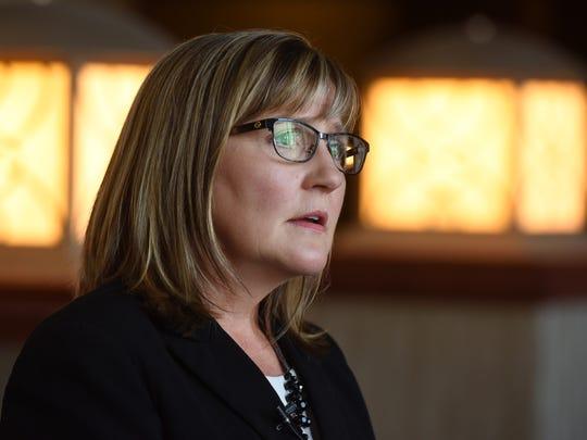 Kim Malsam-Rysdon, South Dakota's Secretary of Health, at the Holiday Inn City Centre in downtown Sioux Falls.