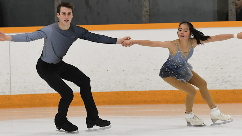 Local skating duo take silver at Nationals
