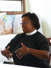 The Rev. Michelle White at a meeting this month about