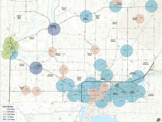Outagamie County's system of tornado sirens leaves