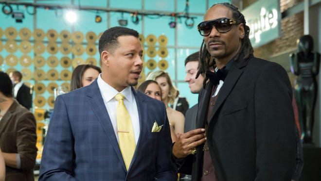 Lucious (Terrence Howard) chats with Snoop Dogg,  guest-starring as himself in the Season Finale episode of 'Empire.'