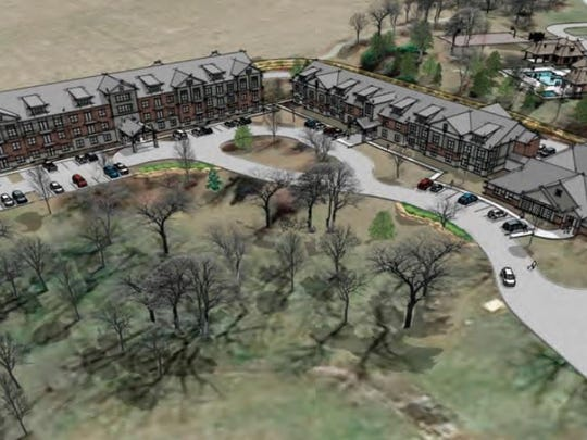 A rendering of the $18.4 million senior living community that Springfield-based O'Reilly Development plans to build in Nixa.