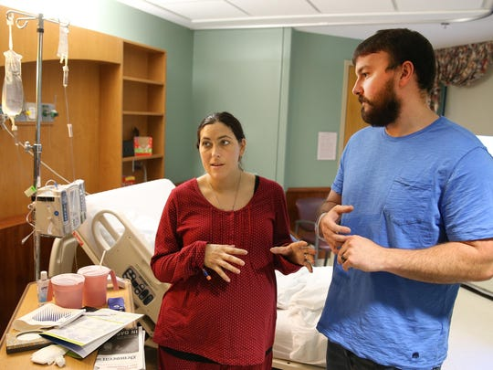Katie and Chris Muchard of Irondequoit became first-time parents to quadruplets Saturday.