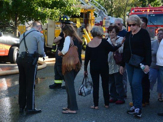 Fire scene at the Covington Village condominium complex in Lakewood Friday September 29, 2017. Paul C. Williams/ Correspondent