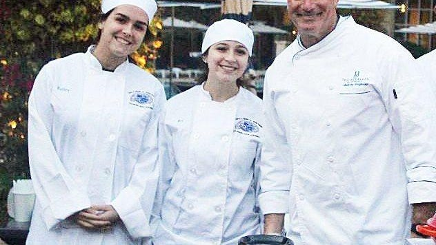 At last year's Palm Beach E.A.T.S., The Breakers' executive chef of restaurants, Anthony Sicignano (far right), teamed up with, among others, area high-school students enrolled in a culinary/hospitality program.