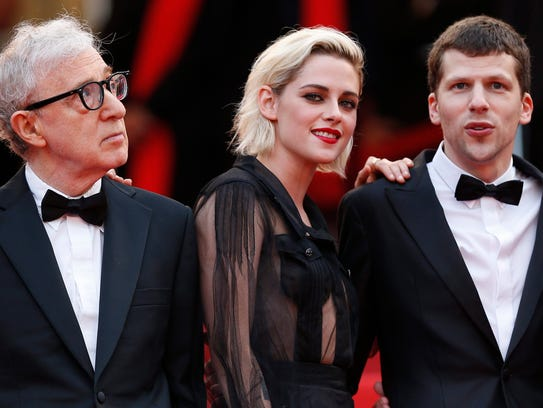 Woody Allen, Kristen Stewart and Jesse Eisenberg attend