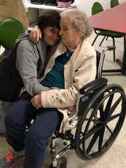 FLORIDA TODAY's Britt Kennerly is pictured at a Kentucky nursing home with her mother, Helen.