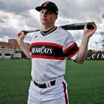 Ian Happ, a junior right fielder for the University of Cincinnati Bearcats, could become the first player in the program's history to be a first-round pick in the Major League Baseball draft. Happ is a switching-hitting slugger, often described as a five-tool player.