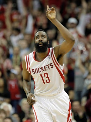 James Harden's 41 points lifted the Rockets to an overtime win over the Trail Blazers.