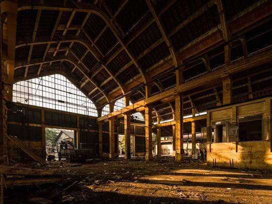 Inside the Ba Son shipyard as it was being demolished
