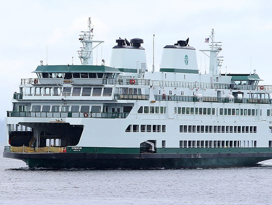 The Washington State Ferry Chimacum heads for Coleman