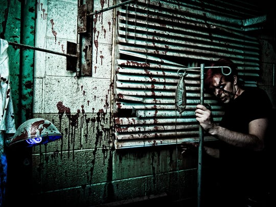 Guests are spaced out at Fear Factory, which makes each walk-through a singular and scary experience