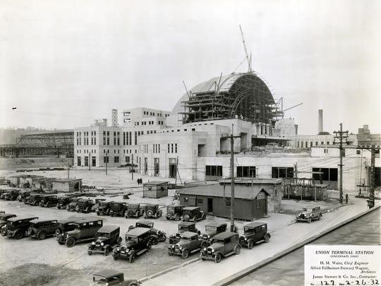 Union Terminal construction Feb. 26, 1932.