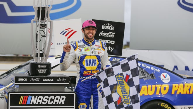 Chase Elliott, here standing in victory lane at Charlotte Motor Speedway on Sunday, has long been spotlighted as the future of NASCAR and the time has come for him to answer the expectations on the track.