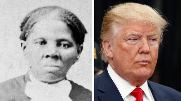 Harriet Tubman and Donald Trump