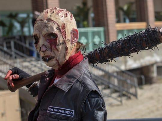 Derek Kravitz of Brick at the Asbury Park Zombie Walk in Asbury Park NJ on October 7, 2017.