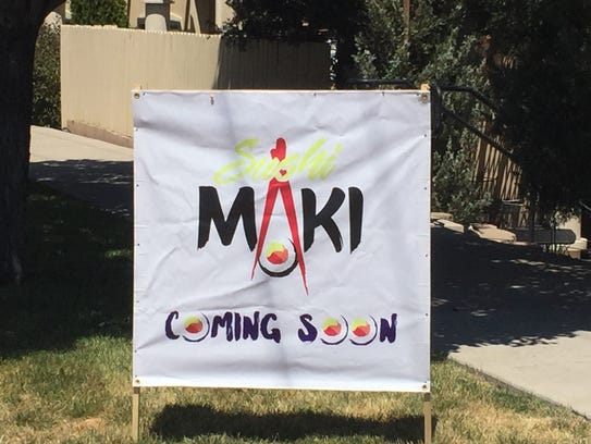 Sushi Maki looks to be opening in the Plumgate center