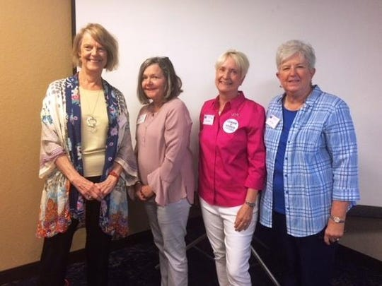 League of Women Voters of Tallahassee recently installed new officers. From left to right: Secretary Carol Weissert, Treasurer Peggy Ball, President Teri Cleeland, Vice President Sally Butzin