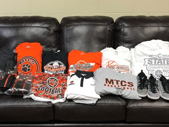 MTCS sent shirts, socks and shoes to Houston to be