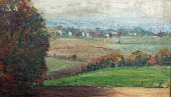A York County landscape by A.A. Bosshart is shown.