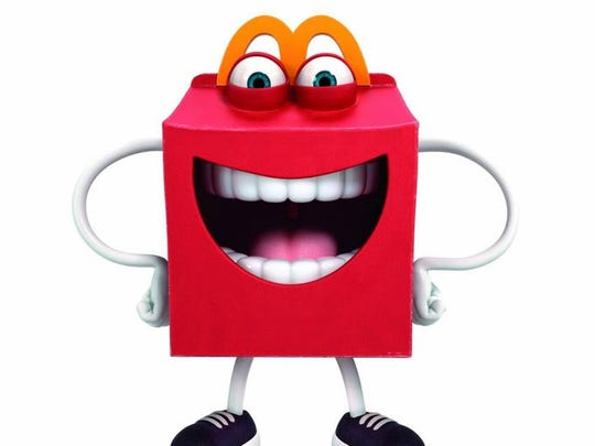 Happy is the new McDonald's mascot to encourage children to eat more healthfully. Or, scare children that it will eat them, depending on which Twitter wag you're reading.