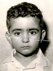 Salah ElDarragi is pictured as a child in Benghazi,