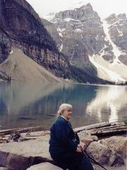 Bertha Chrietzberg in Banff, Canada.