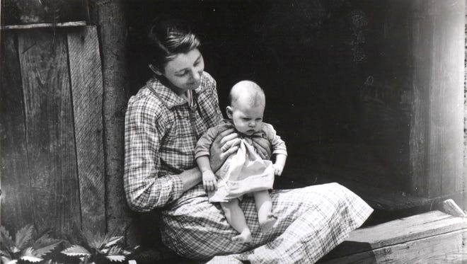 Mother and child- June 21, 1932.  Collection of photos of people in the Smoky Mountain area during the 1920s, 1930s and 1940s.