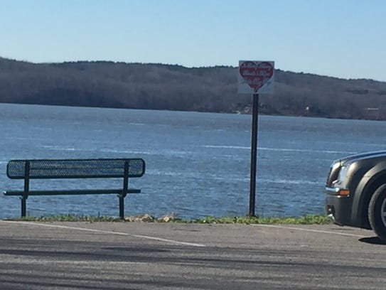 A new bench has been installed overlooking the boat