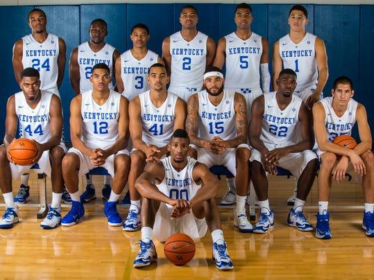 Kentucky Basketball 2014 Team Kentucky basketball team