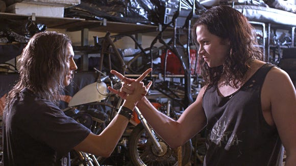 """Milo Cawthorne and James Blake star in the horror comedy """"Deathgasm."""""""