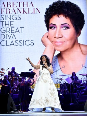 "Aretha Franklin performs onstage during the ""Clive"