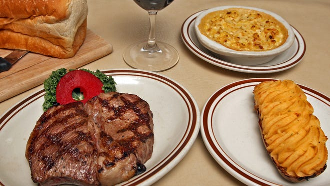 Dishes such as the Top Iowa Sirloin with cheesy corn, twice-baked potato, loaf of bread and a glass of shiraz earned The Big Steer Restaurant & Lounge a spot on MSN's list of best steakhouses in America.