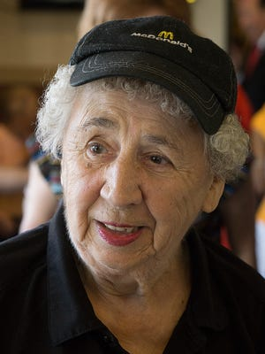 Mary Brooks turns 90 and her co-workers and friends at McDonald's threw her a party.