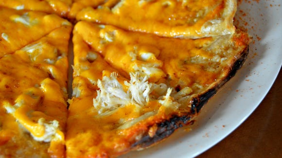 The Thomas O' Malley boxty from The Pint Pub & Eatery, topped with crab meat, horseradish and melted cheese.