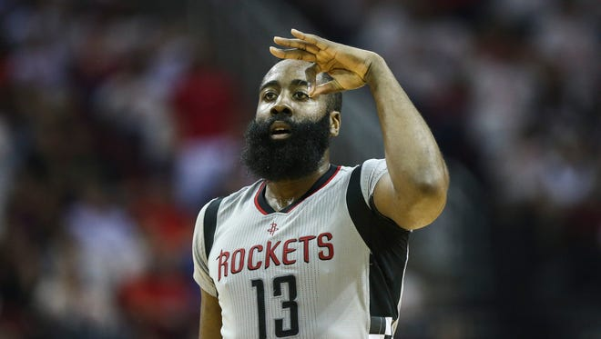 Rockets guard James Harden is celebrating reaching a deal on a four-year extension that pushes his salary to $228 million through the 2022-23 season.