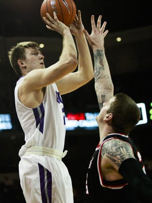Grand Canyon University guard Joshua Braun takes a shot as Grand Canyon University faces off against Seattle University on Saturday, Jan. 30, 2016, at Grand Canyon University Arena in Phoenix. Seattle University defeated Grand Canyon University 59-57.
