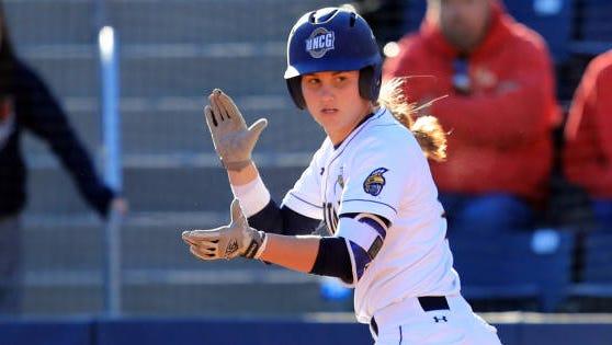 Enka alum Jasmine Palmer is a sophomore for the UNC Greensboro softball team.