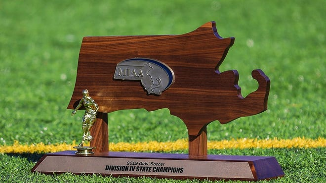 A MIAA state championship trophy.