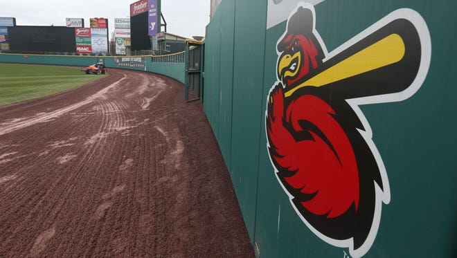 Frontier Field on the eve of the home opener on April 10, 2015.