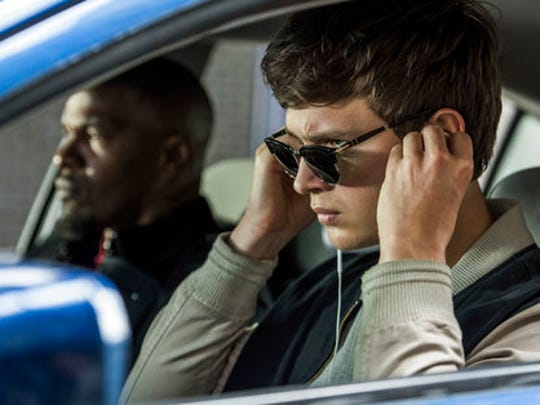"This image released by Sony Pictures shows Ansel Elgort, right, and Jamie Foxx in a scene from ""Baby Driver,"" in theaters on June 28."
