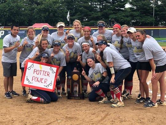 The University of Southern Indiana softball team won